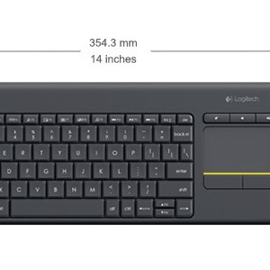 LOGITECH K400 Plus Wireless Touch Keyboard black