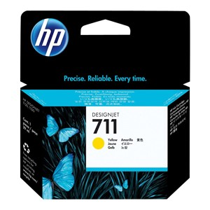 HP 711 blekk 29ml - Gul DJ T520